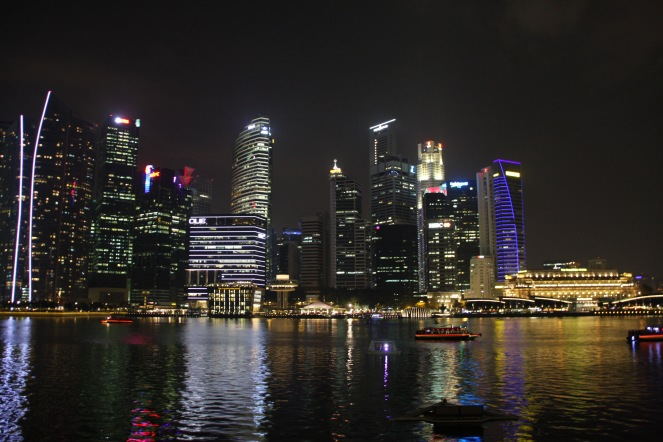 Skyline as viewed from Marina Bay Sands