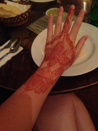 Henna show-off at Lagnaa barefoot dining