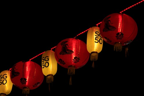 Chinese lanterns to celebrate Singapore's 50 year anniversary