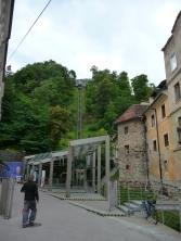 Ljubljana castle and the way towards it